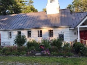 st giles church dappled with sunshine